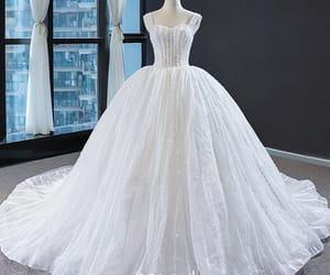 beading, bridal gown, and bride image
