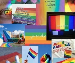 rainbow, wallpaper, and lgbt image