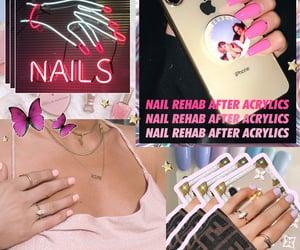 acrylics, beauty tips, and nail tips image