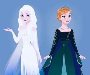 anna, elsa, and disney image