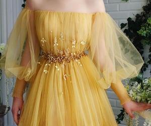dress, long, and yellow image