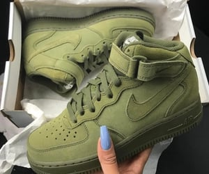 shoes, nike, and green image