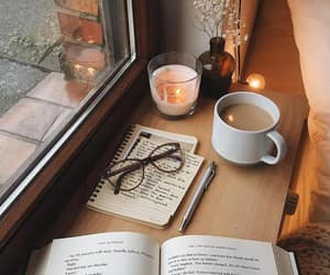 autumn, books, and loveit image