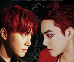 exo, obsession, and red hair image