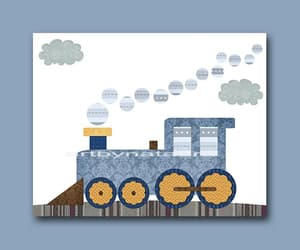 etsy, train print, and train decor image
