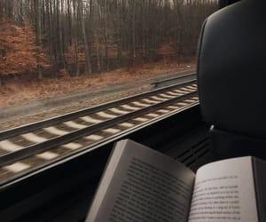 book, autumn, and train image