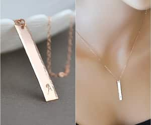 necklace, vertical bar, and hammered jewelry image