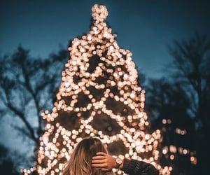 christmas, light, and girl image