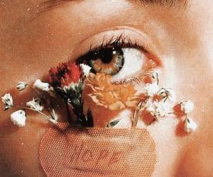 flowers, hope, and eye image