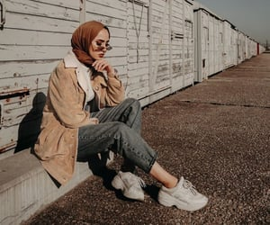 fashion, outfit, and hijabista image