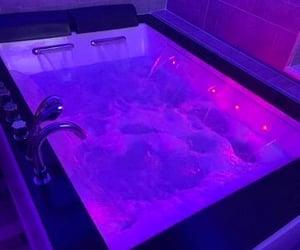 aesthetic, purple, and bath image