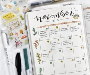 november, noviembre, and bullet journal image