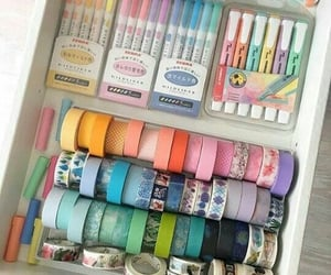 colors, pastel, and stationery image