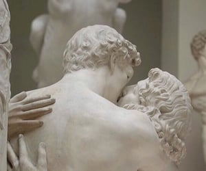 art, sculpture, and kiss image