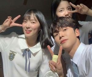 couple, school uniform, and kdrama image
