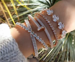 accessories, bracelets, and diamonds image