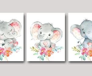 canvas print, etsy, and pink gray image