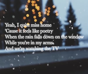 home, snow, and backgrounds image
