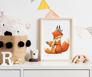 animal art, baby room, and baby animal print image