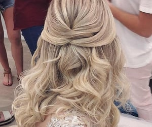 blond, blond hair, and bride image