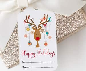 etsy, christmas gift tags, and holiday gift tags image