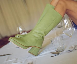 fashion, green, and boots image