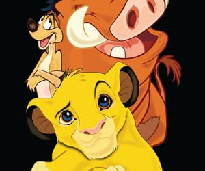 background, disney, and lion king image