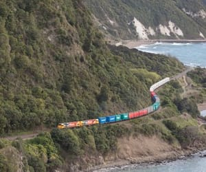 locomotives, ‎newzealand‬, and coastline image