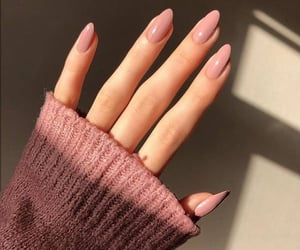 nails, pink, and fashion image