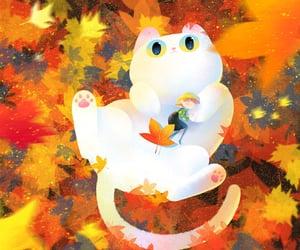 art work, autumnal, and sleep image