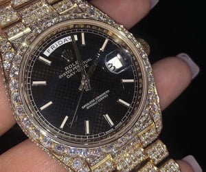 girl, luxury, and rolex image