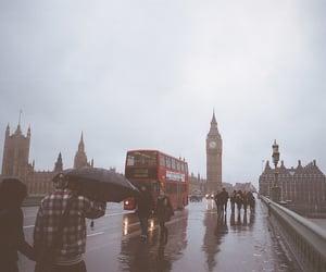 london, rain, and england image