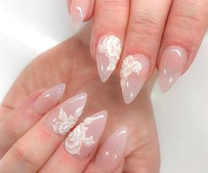nails, soft, and nail art image