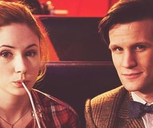 doctor who, the doctor, and amy pond image