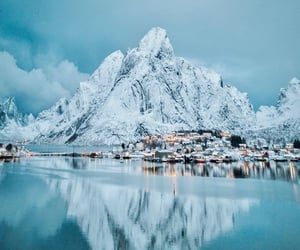 frozen, mountain, and nature image