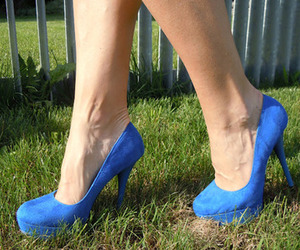 high-heels and blue image
