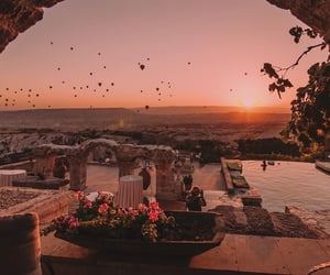 travel, sunset, and nature image