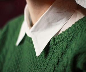 collared shirt, green, and school image