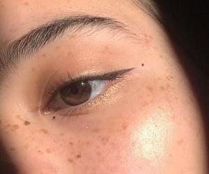 asian, brown, and eyebrow image