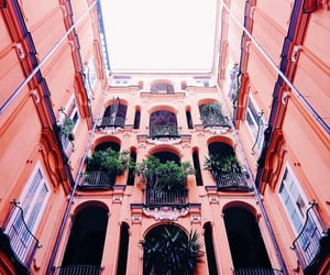 architecture, Naples, and peach image