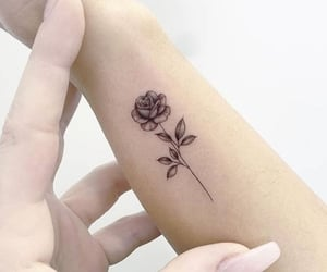 black, girly, and ink image