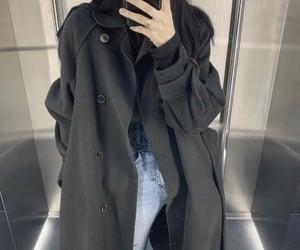 asian fashion, asian girl, and coat image