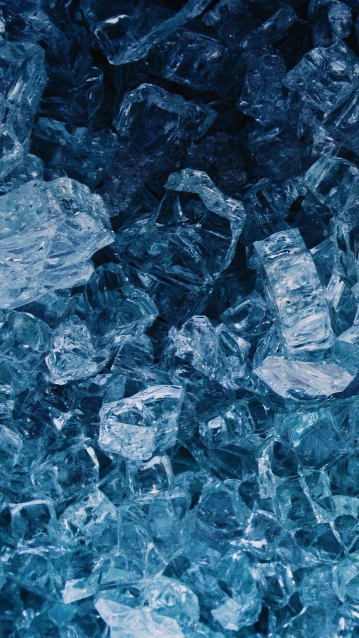 blue, ice, and wallpaper image