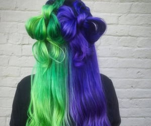 hair and dyed hair image