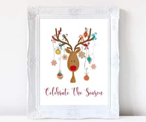 etsy, deer print, and christmas gift idea image
