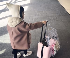 suitcase, travel, and cute image