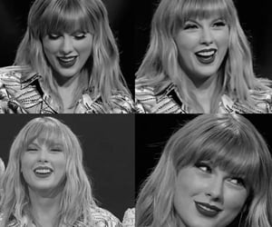 black & white, concert, and red image