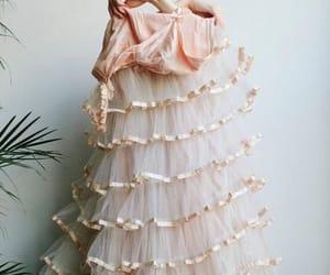 dress, ruffles, and fashion image