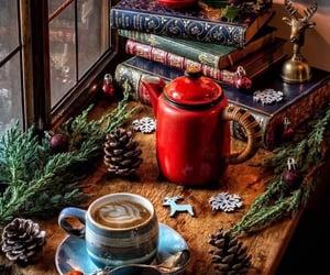christmas, winter, and books image