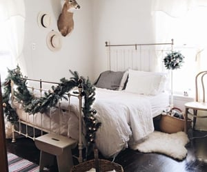 christmas, home, and bedroom image